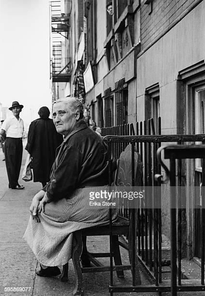 Residents of East Harlem New York City circa 1955