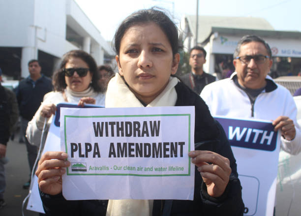 IND: Residents Of Gurugram Protest Against The Punjab Land Preservation Act Amendment Bill