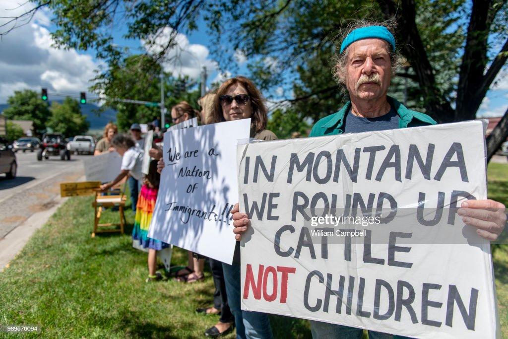 Immigration Rally - Livingston, MT : News Photo
