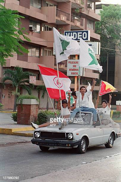 Residents of Panama City erupt into celebration on the streets following the anouncement that Panamanian General Manuel Noriega has sought asylum in...