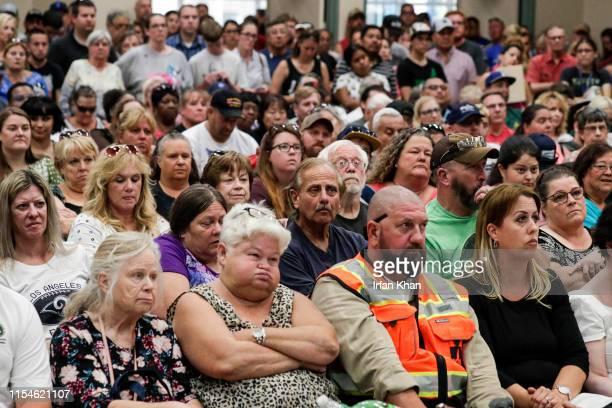 Residents of Ridgecrest and surrounding communities attend a town hall meting held at Kerr McGee Community Center July 7 2019 regarding big...