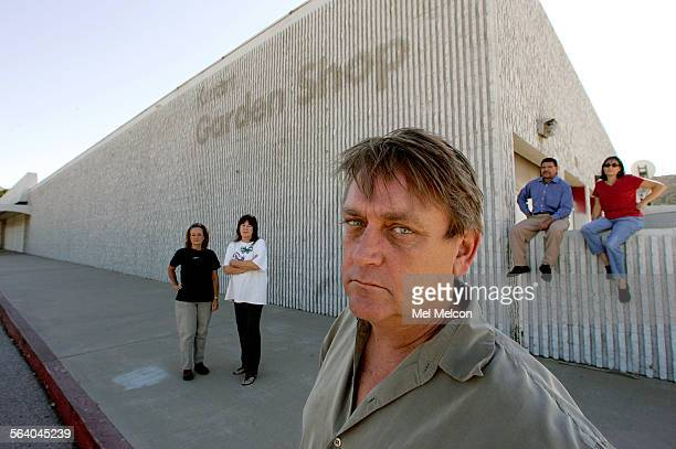 Residents of Sunland–Tujunga and all members of the No Home Depot Campaign from left–Sheryl Smith Elaine Brown Joe Barrett Victor Castro and Abby...