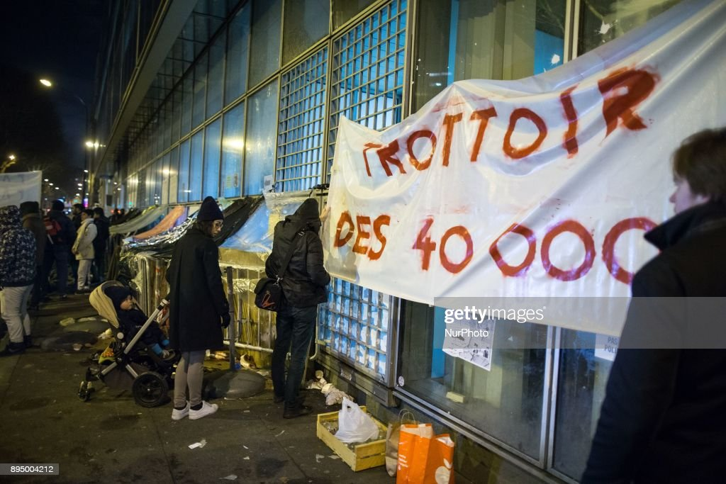 Rally in Paris to protest against the poor conditions of migrants