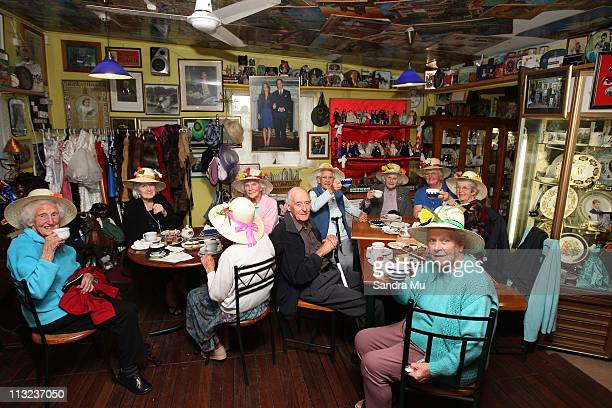 Residents of the Bupa rest home in Thames enjoy a day trip to Corogate Cafe on April 28 2011 in Auckland New Zealand New Zealanders across the...