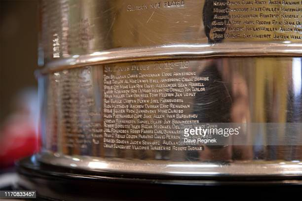 Residents of the Grandview Senior Home gather with the Stanley Cup prior to the Kraft Hockeyville game between the Detroit Red Wings and the St....