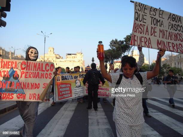 Residents of the mining town of Cerro de Pasco marched through the streets of Lima demanding medical assistance and a halt to the pollution generated...