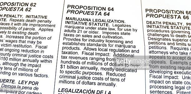 Residents of the State of California United States have begun to receive their November ballots which include Proposition 64 a referendum which would...