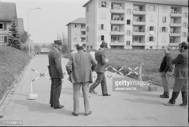 Residents of two block of flats put in quarantine smallpox outbreak suspicion Amriswil 1972