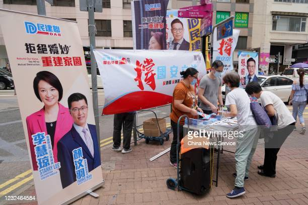 Residents sign a petition in support of the national security legislation on May 29 2020 in Hong Kong China
