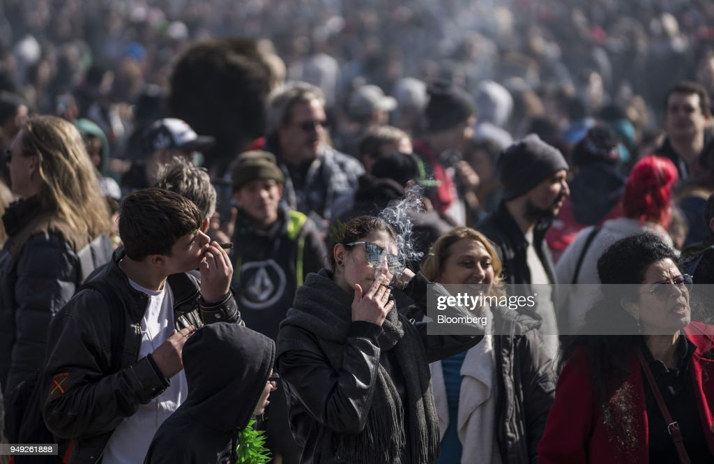 Residents Attend The Canada 420 Day Festival On Parliament Hill