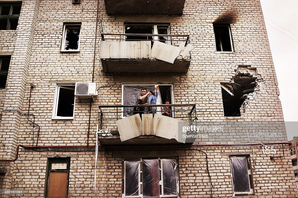 Residents Of Donetsk Have Largely Fled, As Pro-Russian Rebels Control The City : News Photo