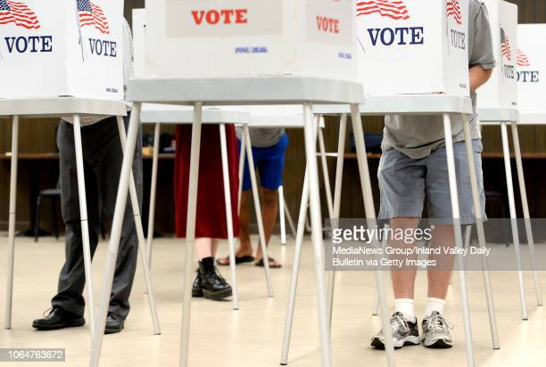 Residents vote in the midterm elections at the Contemporary Club in Redlands on Tuesday, November 6, 2018.