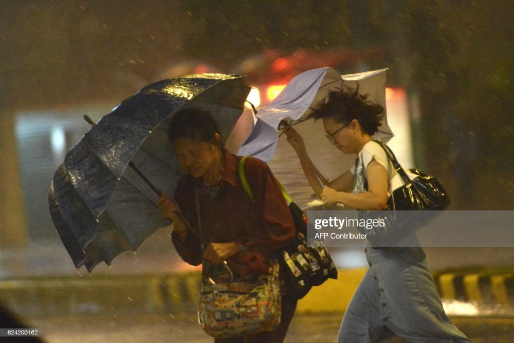 TAIWAN-WEATHER-TYPHOON-NESAT : News Photo