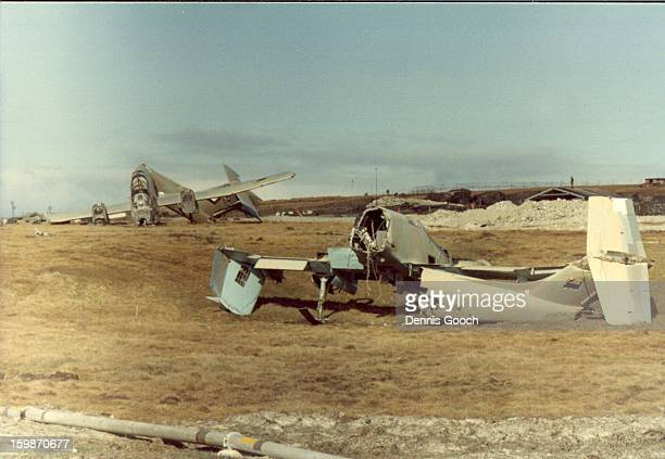 CONTENT] Residue of war at Stanley Airfield October 1983 FMA Pucara Closest aircraft is FMA Pucara A514