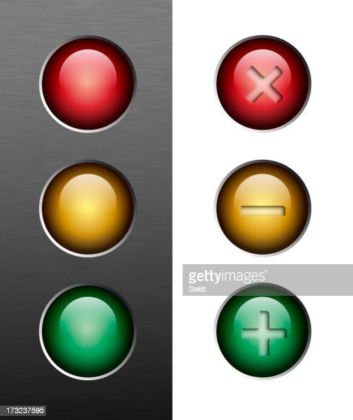 resize buttons | traffic lights