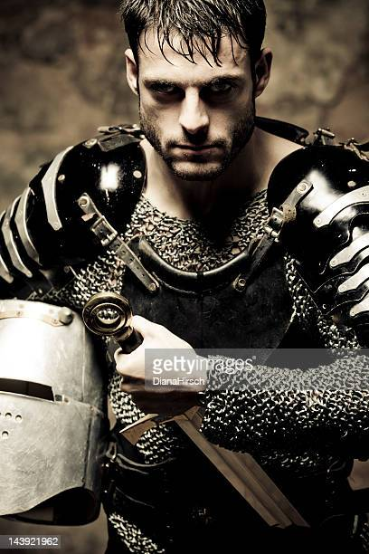 resolute knight - excalibur stock photos and pictures