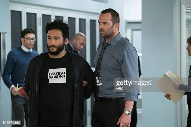 BLINDSPOT Resolves Eleven Myths Episode 207 Pictured Ennis Esmer as RichDot Com Sullivan Stapleton as Kurt Weller