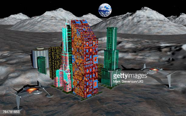 A Resort Complex On The Surface Of The Moon.