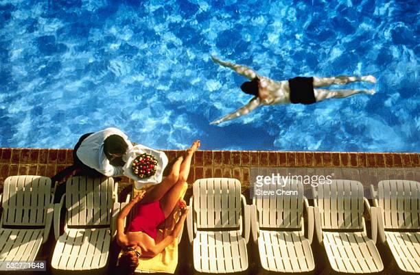 Resort Guests at Swimming Pool