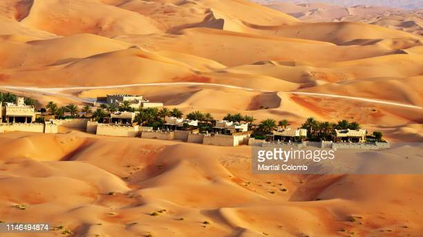 resort hotel among a desert - martial stock pictures, royalty-free photos & images