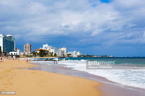 Resort Hotels Along Condado Beach in San Juan