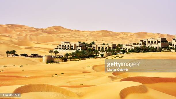 resort in a desert - martial stock pictures, royalty-free photos & images