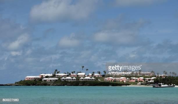 A resort near Long Bay Beach June 22 2017 in Somerset Bermuda / AFP PHOTO / DON EMMERT