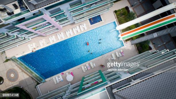 Resort pool aerial view