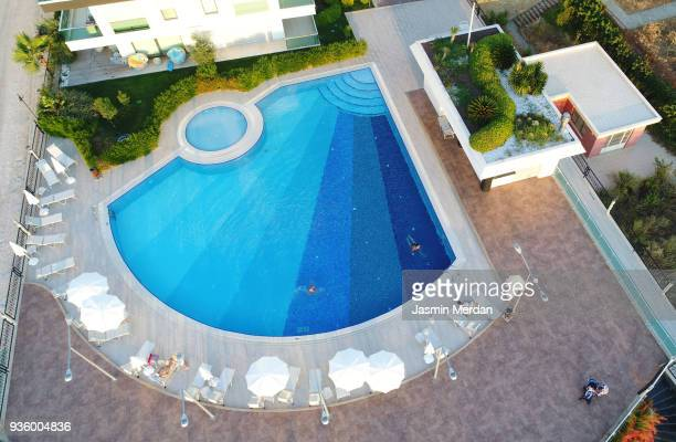 Resort pool aerial view