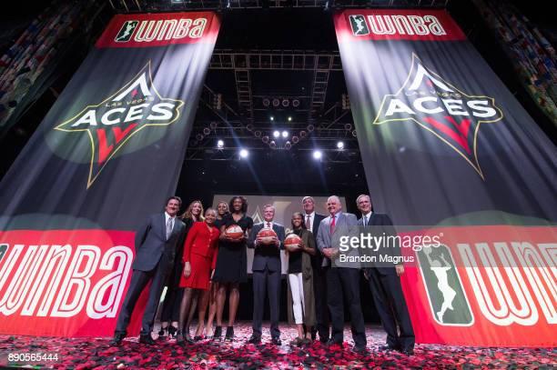 MGM Resorts International President Bill Hornbuckle WNBA President Lisa Borders WNBA player Kayla Janine Alexander MGM Resorts International Chairman...