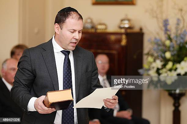 Resources Energy and Northern Australia Minister Josh Frydenberg is sworn in by GovernorGeneral Sir Peter Cosgrove during the swearingin ceremony of...