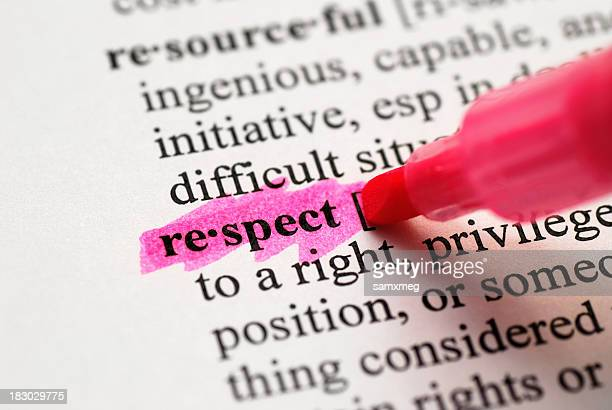 respect highlighted in dictionary - respect stock pictures, royalty-free photos & images