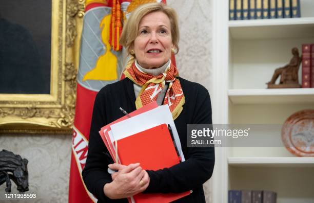 Response coordinator for White House Coronavirus Task Force Dr Deborah Birx speaks during an event with President Donald Trump to sign a Proclamation...