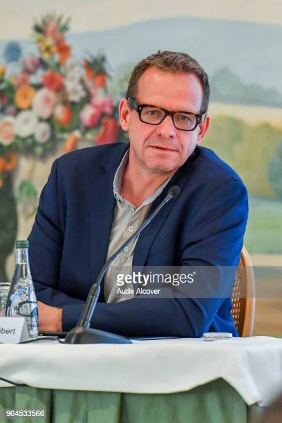 Responsible for audiovisual rights Olivier Seibert of MediaPro during the Press Conference of MediaPro at Hotel Bristol on May 31 2018 in Paris France