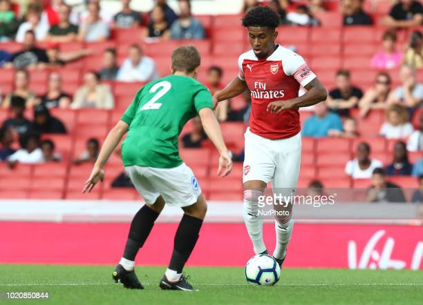 Ress Nelson of Arsenal during Premier League 2 match between Arsenal Under 23s and Brighton and Hove Albion Under 23s at Emirates stadium London...