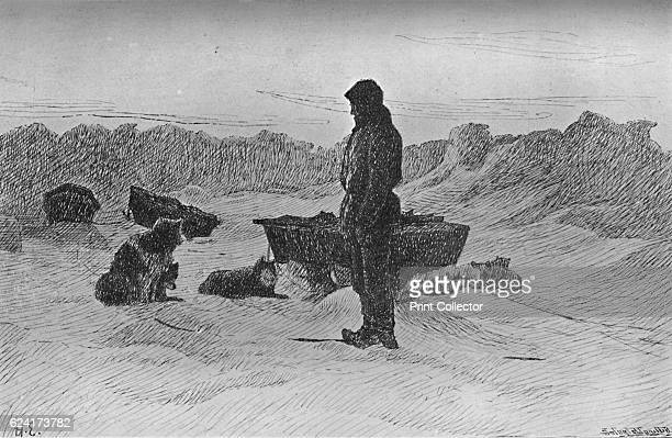 Rest April 1895' From Farthest North Vol 2 by Fridtjof Nansen [Archibald Constable and Company London 1897] Artist H Egidus