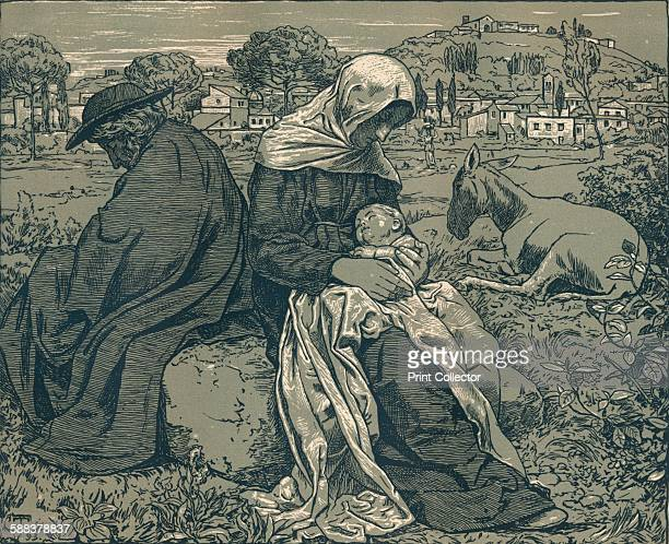 Rest During the Flight into Egypt' c1897 From The Studio Volume 10