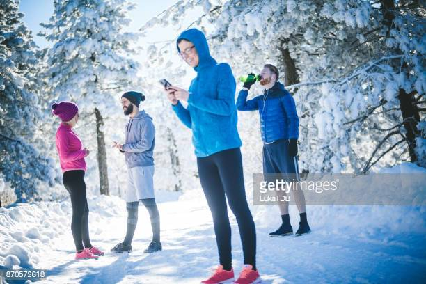 Rest from running for funny texting