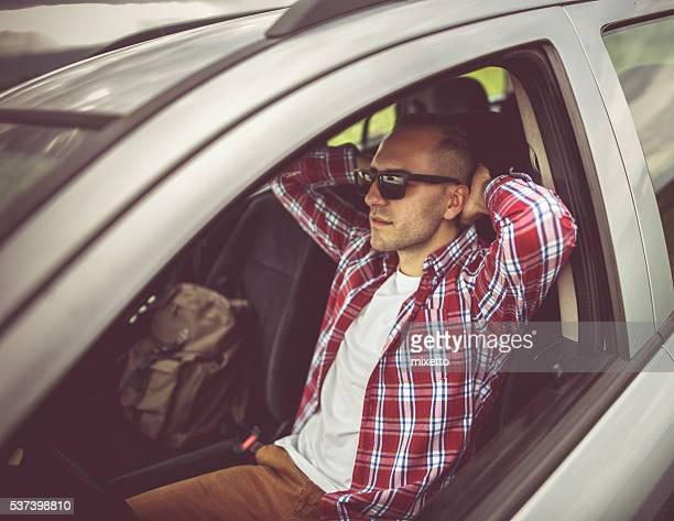 Rest in a car