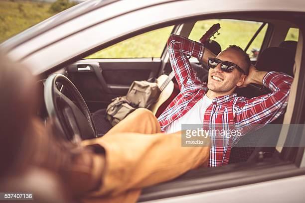 Erholen Sie sich in einem Auto