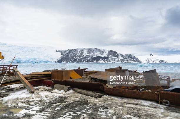 Rest of station's work material to be removed on November 05 2019 in King George Island Antarctica