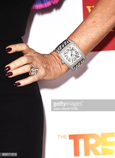 Restaraunteur Lisa Vanderpump jewelry detail attends TrevorLIVE LA 2015 at Hollywood Palladium on December 6 2015 in Los Angeles California