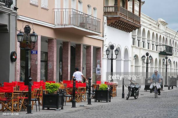 Restaurant along the Ninth of July Plaza / plaza 9 de julio, Salta, Argentina.