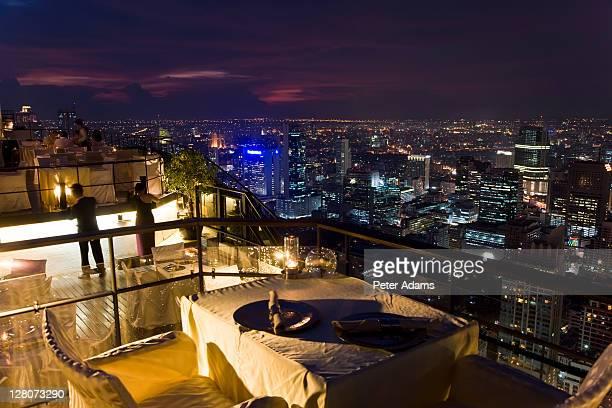 Restaurant and bar, Bar Vertigo, 61st floor, Roof of the Banyan Tree Hotel Bangkok, Thailand
