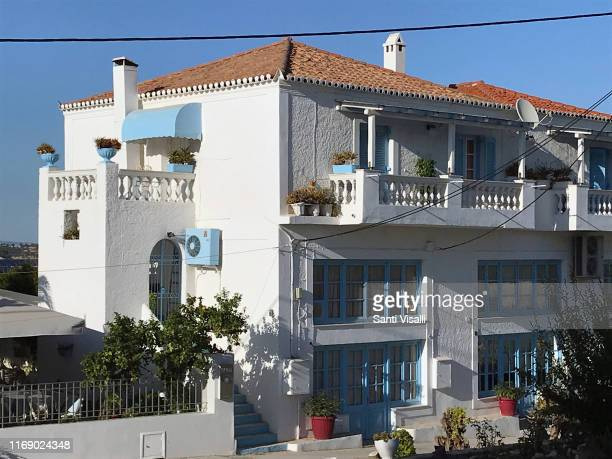 Restaurant and villa on June 30, 2019 in Spetses, Greece.