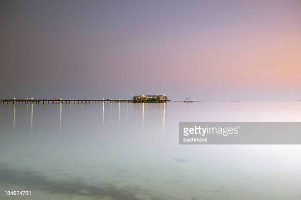 restaurant at seaside - anna maria island stock pictures, royalty-free photos & images
