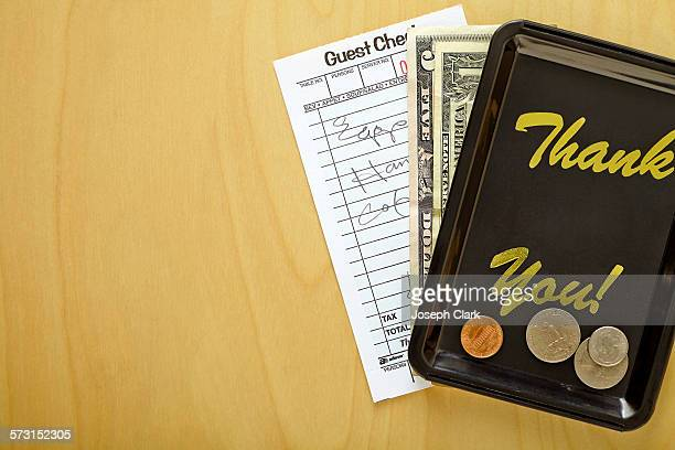 Restaurant bill and change