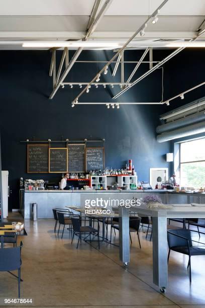 Restaurant bistrot Pirelli Hangar Bicocca Foundation dynamic center for art experimentation Via Chiese street Milan Lombardy Italy Europe