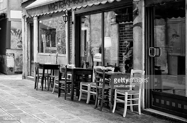 Restaurant. Black and White