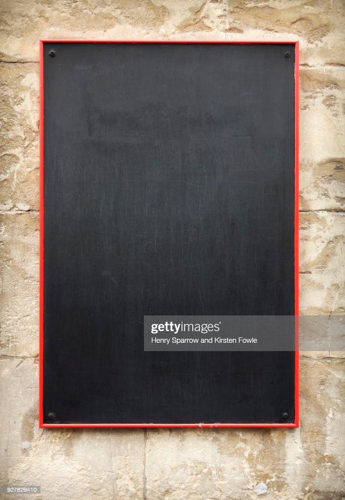 Restaurant Blackboard : Stock Photo